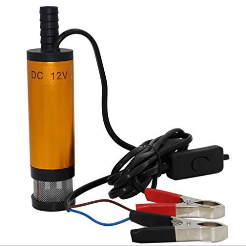 Preisvergleich Produktbild Igemy 12 V Elektrische Ölpumpe 12 L / min,  Aluminiumlegierung Tauchpumpe 38mm Wasser Diesel Kraftstoffpumpe (Mehrfarbig)