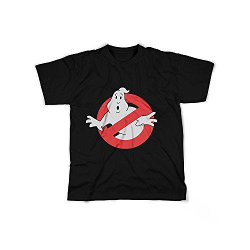 (licaso Männer T-Shirt mit Aufdruck in Schwarz Gr. S Geisterjäger Logo Design Boy Top Jungs Shirt Herren Basic 100% Baumwolle Kurzarm)