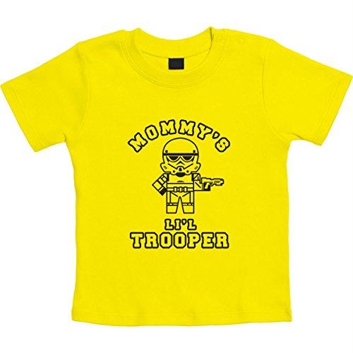 Mommy's Lil Trooper - Geschenk für Sci-fi Fans Unisex Baby T-Shirt Gr. 66-93 3-6 Monate / 66 Gelb (Trooper Clone Outfit)