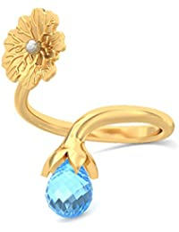 BlueStone 18k (750) Yellow Gold And Topaz Eppie Ring