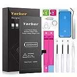 YARBER Batería iPhone 7 de Alta Capacidad, 2200 mAh de Reemplazo de Ion de Litio con 12% más de Capacidad y con Kits de Herramientas de reparación, Cinta Adhesiva (No para iPhone 7Plus)