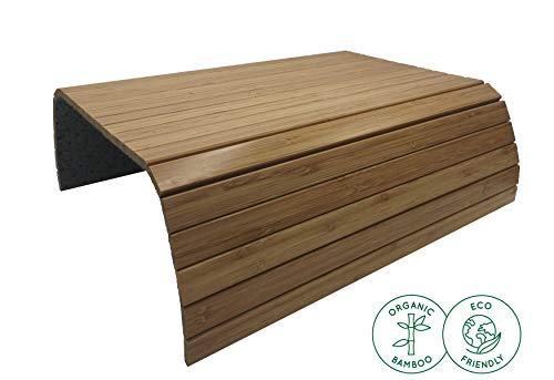 BamBooBox Sofatablett/Sofaablage aus Bambus für Getränke, Snacks etc. - Armlehnen Ablage aus Massivholz -