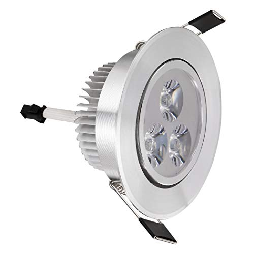 Ysmklo 9W 85-265V Warm White Cool White Silver LED Ceiling Recessed Down Light Fixture Lamp and Driver Rücklicht-Komplettsets