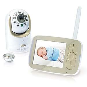 Infant Optics Dxr-8moniteur vidéo pour bébé avec lentille optique interchangeable, Blanc/beige