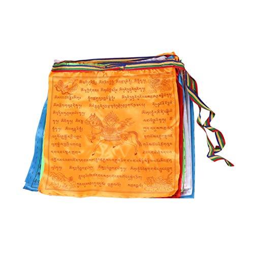 Toyvian maha Bodhi tibetanisches windpferd lungta gebetsfahnen Seide und Satin tibetanisches ruhiges gebetsfahnen Buddhismus zubehör
