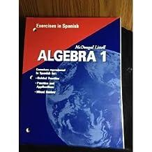 Algebra 1, Grades 9-12 Exercises in Spanish: Mcdougal Littell High School Math