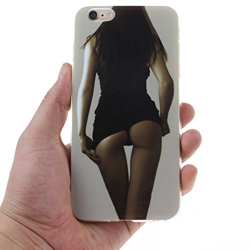 Coque iPhone 5s,Housse iphone 5, Hamyi Etui Souple Slim TPU Silicone Bumper pour Apple iPhone 5 et iPhone 5s (Lion) Sexy Girl