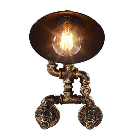 J&z lampada robot industriale corridoio bar camera da letto ferro battuto personalità retrò acqua tubo muro luce [energia classe a]