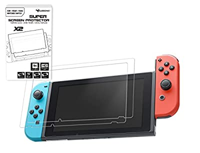 Pack of 2 Tempered Glass Screen Protectors for Nintendo Switch from Subsonic