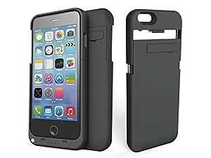SUNDAREE® 3200mAh Power Bank Pour iPhone 6 4.7 Pouce Portable Externe Batterie Chargeur Rechargeable Coque Etui Housse Alimentation Pour iPhone 6 4.7 Pouce Noir