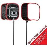 Kamerar Dfuse Faltbare Softbox für Aputure Amaran 528/672 LED Lichtpaneele: faltbar, tragbarer Diffusor, Gurtbefestigung, Kamera Foto Film Video