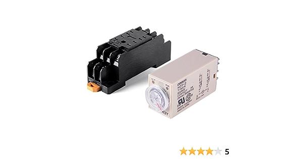 Magen Minuterie de relais temporis/é 0-10 Minutes H3Y-2 AC 220V DPDT avec socle
