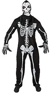 Atosa 96743 Disfraz esqueleto adulto M-L, talla hombre