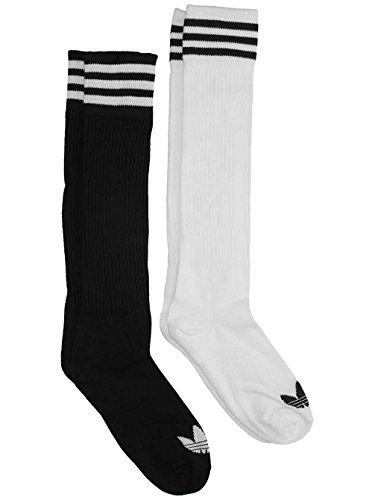 adidas Damen Solid Socken, Black/White, 39-42