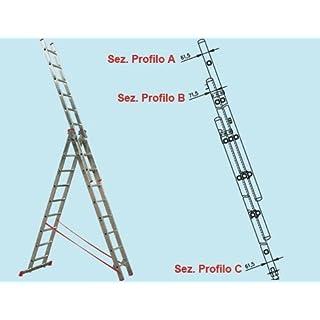 Scale Ausziehleiter Promo Step dreifachen in Aluminium 5,29MT. gemäß EN 131