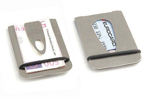 Geldscheinklammer, Kreditkartenhalter, Kartenetui, Geldclip, Money Clip aus Edelstahl