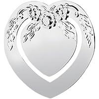 Pretty, Argento SEGNALIBRO. A forma di cuore con motivo floreale.