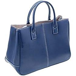 DELEY Mujer Simple Diseño Negocio Asa Superior Bolsa Oficina Hombro Bolso De Las Señoras Azul Real