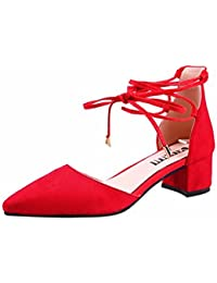 YUCH Chaussures Femmes Simple Et Nette Et Simple A Souligné Chaussures Occasionnels,Black,38