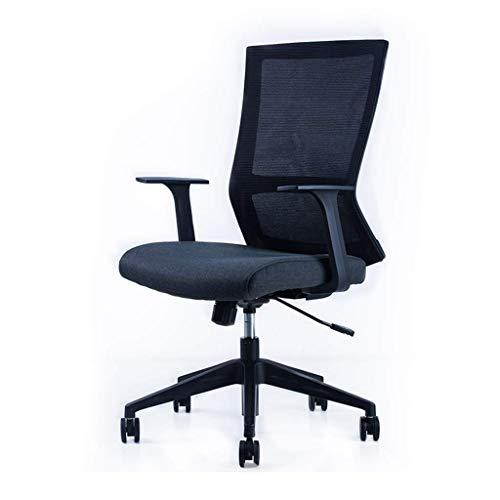 Bürostuhl Konferenzstuhl Zurück Soft Comfort Chair-wasserdichte Wäsche-Stuhl zurück Videospiel Back Office Drehstuhl Bürostuhl (Color : Black)
