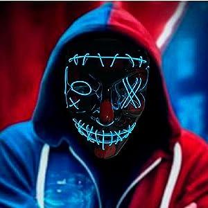 RUTIDA LED Mascaras Halloween, Máscaras