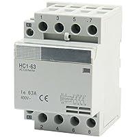 Sourcingmap - 35 millimetri montaggio su guida din ac400v 63 bis a 4 poli domestici contattore ca modulare