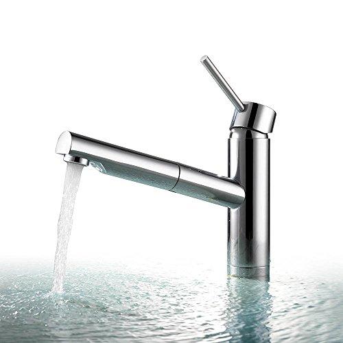 Homelody Verchromt Wasserhahn Küchenarmatur mit ausziehbarem Brause Armatur Spültischarmatur Einhebelmischer für Küche Mischbatterie Spüle