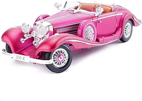 TOY Spielzeugauto, Auto Liebhaber, Kinder Geschenke, Sammlung, Dekoration, Lernspielzeug, Modellauto 1:18 Mercedes Benz 500 Karat Automodell Simulation Legierung Automodell Erwachsene Sammlung 25X10,