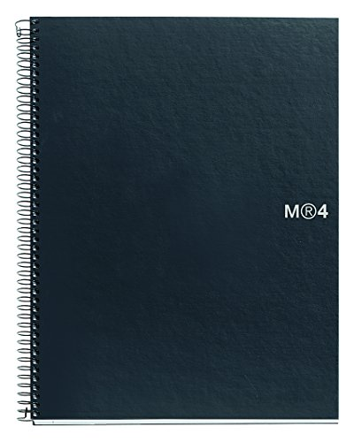 basicos-mr-2108-4farben-graphit-a4notizbuch-160blatt-glatt