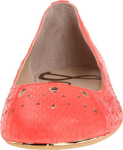 Sam Edelman Leighton B5111L4654, Ballerine donna Arancione (Orange (NEON CORAL SCALLEN SNAKE))