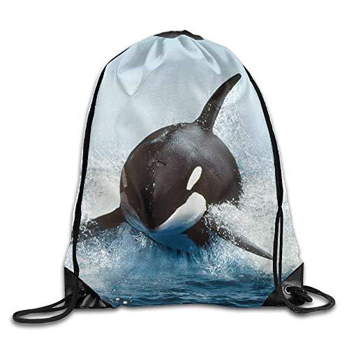 Setyserytu Sporttasche mit Kordelzug, Sportrucksack, Reiserucksack, Drawstring Bag Gym Bag Travel Backpack, Do Not Give Up Cat, Large Gym Drawstring Bags for Boys Girls pic1