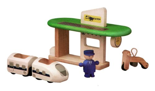 PlanToys - PT6230 - Jouet en bois - Véhicule - Gare Ecologique