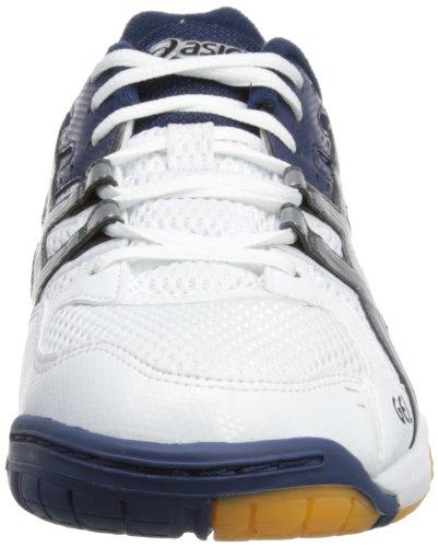 Asics Gel-rocket M, Chaussures Multisport Indoor homme Blanc (white/lightning/dark Blue)