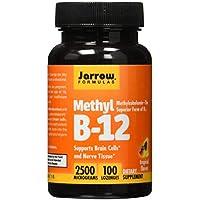 Jarrow Formulas Methyl B-12,Supports Brain Cells and Nerve Tissue, 2500 mcg, 100 Lozenges