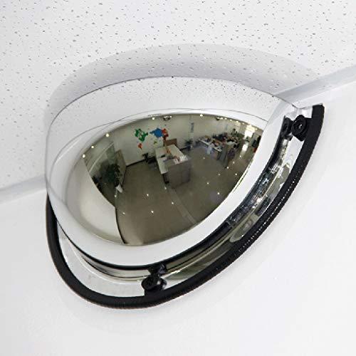 GXFC Specchio Convesso panoramico Half Dome, Angolo di Visione a 180 Gradi, 1/4 Specchio sferico, Specchio di Sicurezza Acrilico, Adatto per Negozi, uffici o fabbriche, Sicurezza di officine