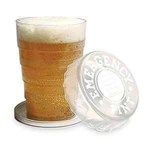 Gentlemens club gentlemen's club verre à bière rétractable inscription emergency pint transparent