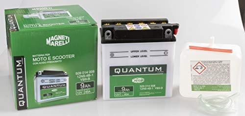 Batteria moto scooter 9Ah 12V 85A acido predosato Quantum