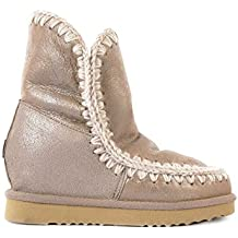 Mou botas mujer en ante nuevo beige