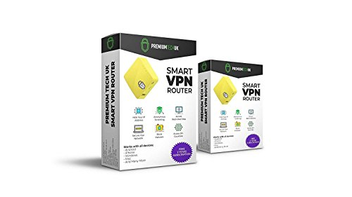 Premium Tech UK VPN Router by with 2-Year VPN Subscription - WiFi Security  and Privacy, Protect All Devices and Unblock Sites, Multiple Devices,