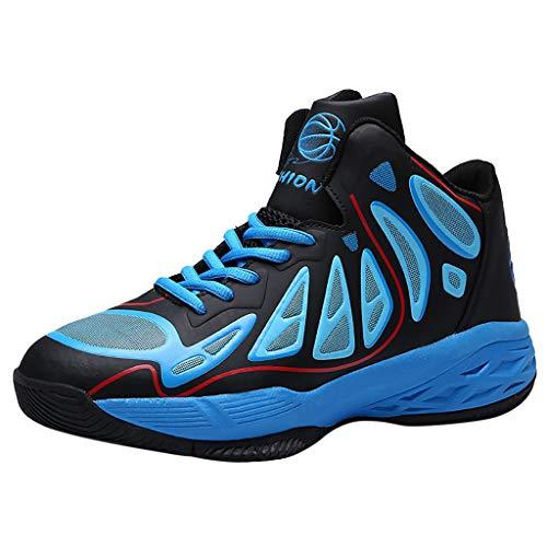 CUTUDE Herren Laufschuhe Turnschuhe Bequem Atmungsaktiv Basketball Sportschuhe Sneaker Schnürer Straßenlaufschuhe - Viele Farben 38 EU-44 EU (Blau, 43 EU)