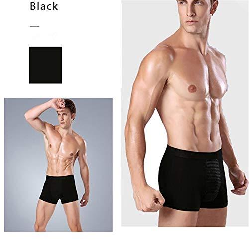 Herren Energie Unterwäsche, Unterwäsche EIS Seide Mesh Breathable Jugend 3D Sexy Transparente Boxer Shorts Turmalin Prostata Magnetfeldtherapie -