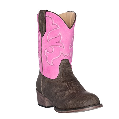 Silver Canyon Boot and Clothing Company Kinder West Kinder Cowboystiefel für Mädchen 11 M US kleine Kinder rosa Brown -