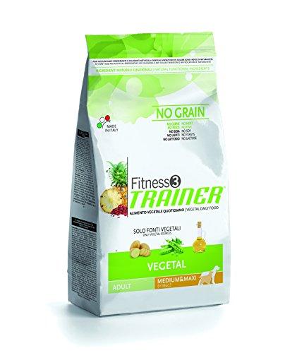 Novafoods Cibo per Cani Fitness 3 Adult Medium Maxi Vegetal 12,5KG - 12500 gr