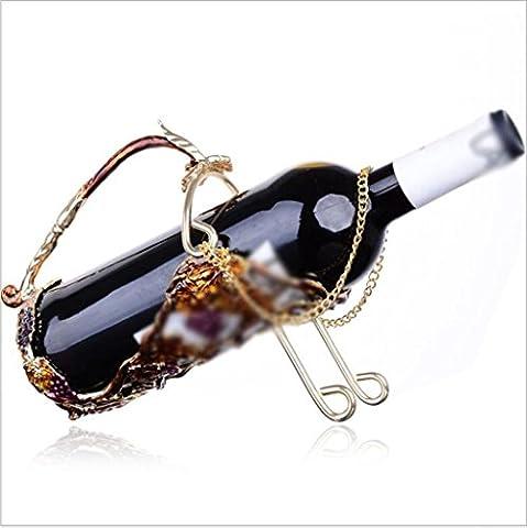 KQS-XYT Wine Rack European Style 35 * 9.5 * 19cm Matériau du métal Single Bottle Luxury Home Furnishings