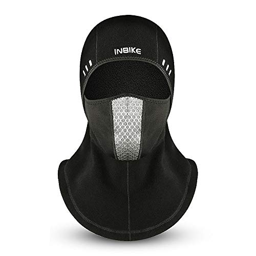 Suxman Sturmhaube Sturmmaske Balaclava Motorrad Fahrrad Ski Maske Kopfhaube Gesichtsschutz Winter Schwarz Herren Damen Outdoor Sport Winddicht Warm Multifunktional Kopfumfang 52-60cm