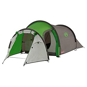 41YMq3rAbxL. SS300  - Coleman Cortes 4 Tent - Green/Grey, One Size