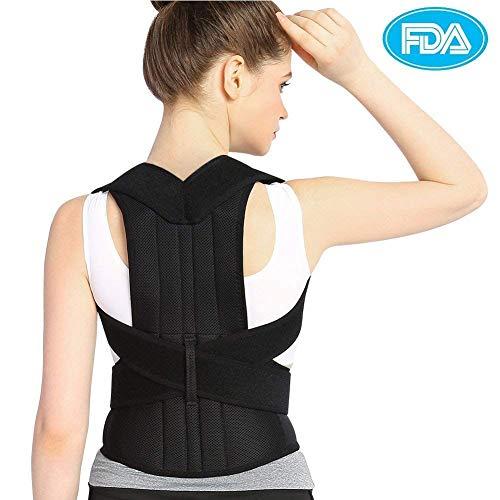Haltungskorrektur Doact Geradehalter zur Haltungskorrektur Rücken Schulter Verstellbar Atmungsaktiv Rückenbandage Rückenhalter Haltungskorrektur für Damen und Herren M
