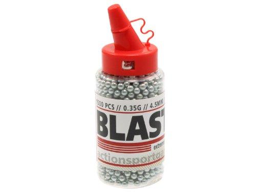 1.500 BLASTER Stahl BBs / Stahlrundkugeln 4,5mm (.177) im Spender
