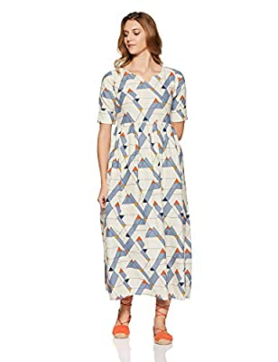 Gerua Women's Pleated Maxi Dress