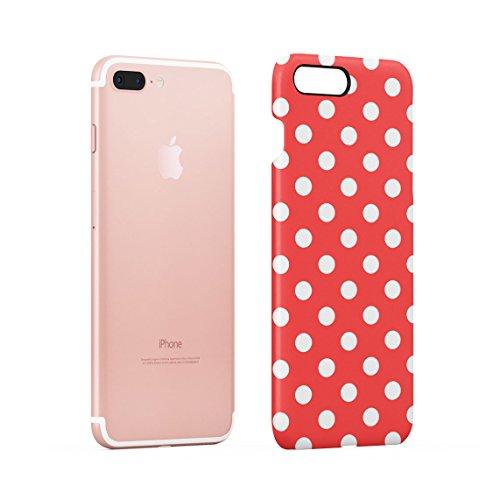 Baby Blue Polka Dots Pattern Dünne Rückschale aus Hartplastik für iPhone 7 Plus & iPhone 8 Plus Handy Hülle Schutzhülle Slim Fit Case cover Red Dots